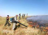 مهار حریق ارتفاعات روستای درخت بید سرخس/ ۳۰۰ میلیون تومان به مراتع منطقه خسارت وارد شد