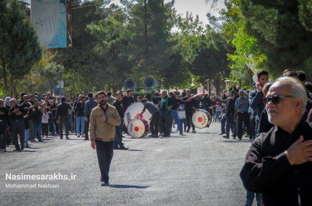مراسم پیادهروی جاماندگان اربعین حسینی در سرخس