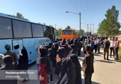 کاروان پیاده اربعین حسینی سرخس به کربلا اعزام شد