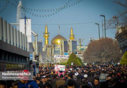 مراسم تشییع پیکر شهدای مقاومت در مشهد
