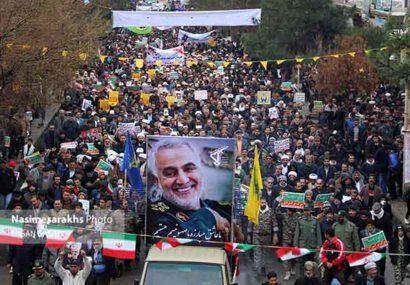 ضربه کوبنده مرزنشینان سرخس به آمریکا در یومالله ۲۲ بهمن