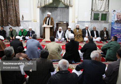 مراسم اربعین سردار شهید سلیمانی در روستای قوش سربوزی سرخس