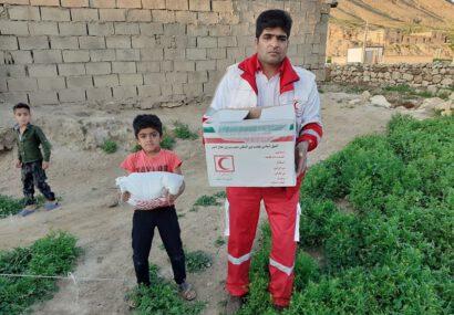 امدادرسانی هلال احمر به روستاهای سیلزده سرخس