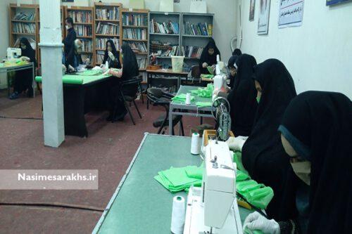 تولید ۱۰۰۰۰ ماسک در کارگاههای شهید قاسم سلیمانی سرخس