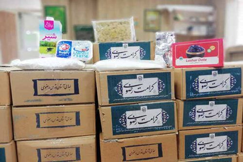 توزیع ۱۰۰۰ بسته افطاری بین نیازمندان سرخس توسط آستان قدس رضوی