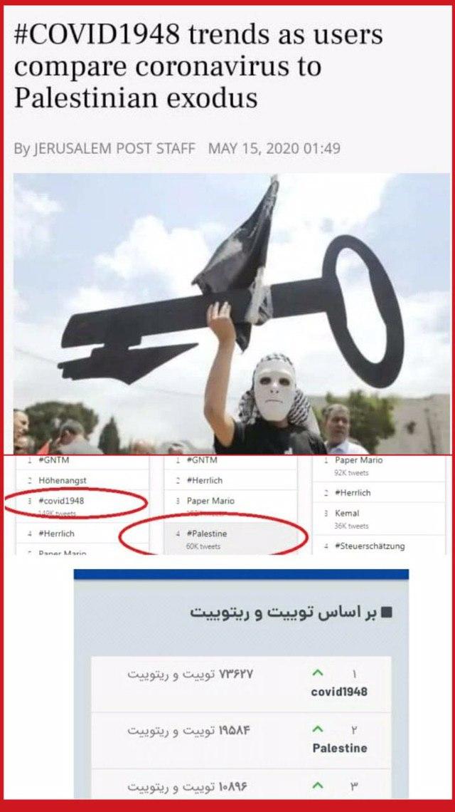 کلیدواژه ضدصهیونیستی ترند سوم توئیتر جهانی شد