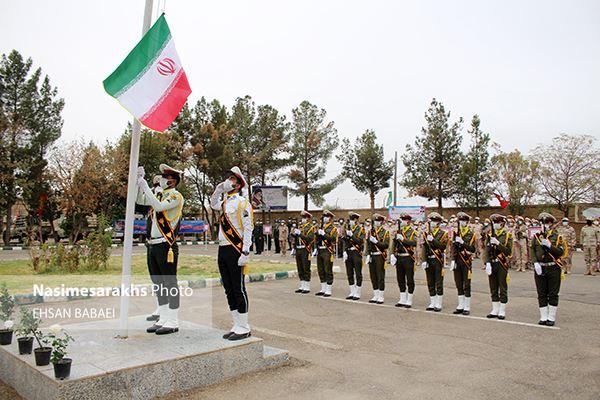 صبحگاه مشترک نیروهای مسلح سرخس به مناسبت هفته ناجا