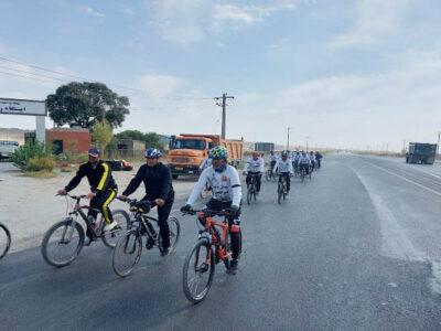 اعزام تیم دوچرخه سواری محبانالرضا(ع) سرخس به حرم رضوی